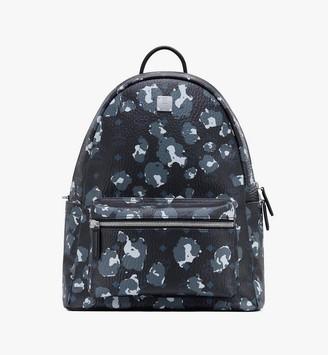 MCM Stark Backpack in Floral Leopard