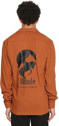 Rhude Moonlight Madness Printed Hawaiian Shirt
