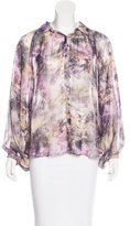 Elizabeth and James Abstract Print Silk Top