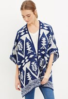 Forever 21 FOREVER 21+ Southwestern-Patterned Open-Front Poncho