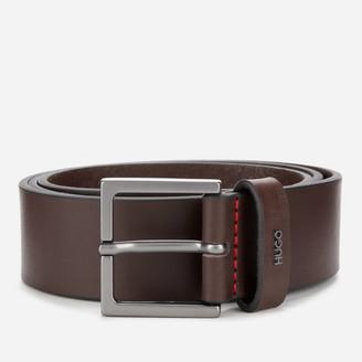 HUGO BOSS Men's Giove Logo Tab Leather Belt