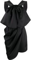 Magda Butrym Athens draped asymmetric silk dress