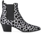 Saint Laurent 'Rock 40' Chelsea boots - women - Calf Leather/Velvet - 36