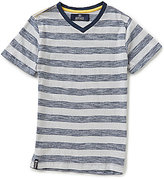 Buffalo David Bitton Big Boys 8-20 Kampel Striped Short-Sleeve V-Neck Tee
