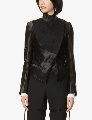Ann Demeulemeester Wrap-front wool and cotton-blend jacket