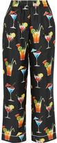 Dolce & Gabbana Printed Silk-twill Pants - Black