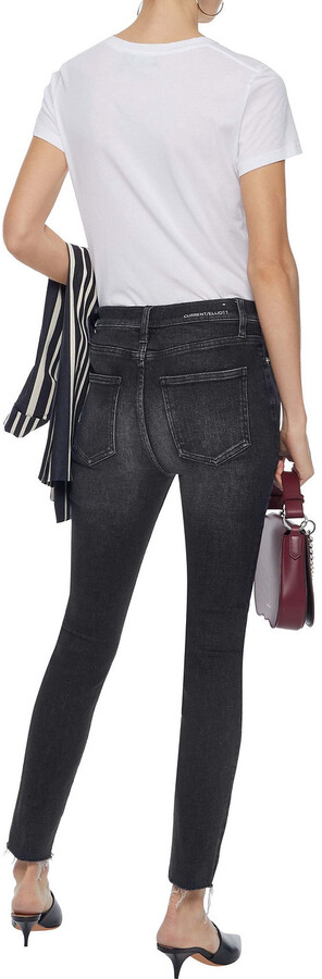 Thumbnail for your product : Current/Elliott The Ultra High Waist Faded High-rise Skinny Jeans