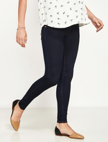 A Pea in the Pod Luxe Essentials Denim Secret Fit Belly Skinny Maternity Jeans- Dark