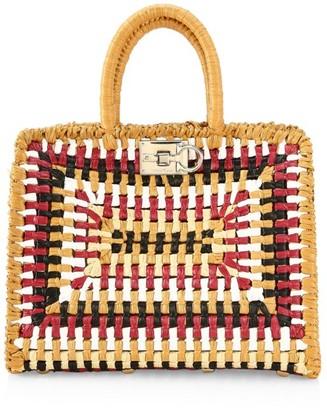Salvatore Ferragamo Small Studio Woven Top Handle Bag