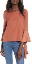 J.o.a. Women's Ruffle Sleeve Top