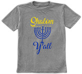 Urban Smalls Heather Blue 'Shalom Y'all' Tee - Toddler & Boys
