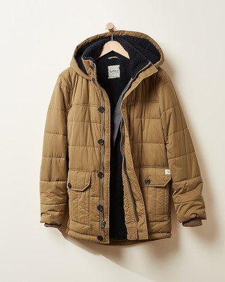 Express Upwest Quilted Sherpa Lined Parka