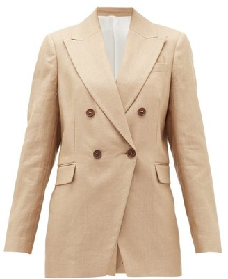 Brunello Cucinelli Double-breasted Technical-twill Suit Jacket - Beige
