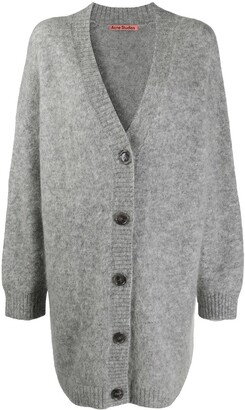 Acne Studios Long-Length Brushed Cardigan