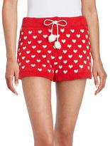 Betsey Johnson Cozy Intarsia Sweater Shorts