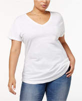 Style and Co Plus Size V-Neck T-Shirt, Created for Macy's