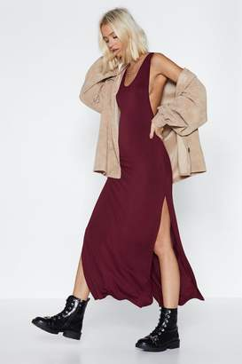 Nasty Gal Womens My Ride or Side Midi Dress - red - 6