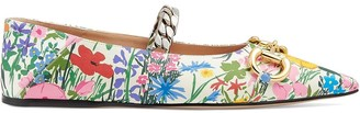 Gucci x Ken Scott floral ballerina shoes