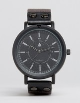 Asos Watch In Black With Stud Detail