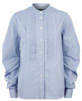 Burberry Sculptural Sleeve Pintuck Shirt