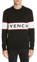 Givenchy Men's Logo Band Wool Sweater
