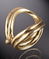 Novick gold 'Fargo' asymmetrical double layered ring