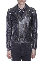 Saint Laurent Distressed Biker Leather Jacket