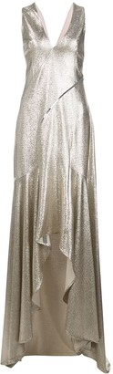 Galvan Metallic Evening Dress
