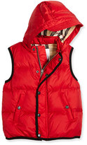 Burberry Carlton Puffer Vest, Military Red, Size 4-14