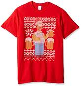 The Simpsons Men's Homer Beer Ugly Christmas T-Shirt