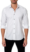 Jared Lang Long Sleeve Stripe Semi-Fitted Shirt