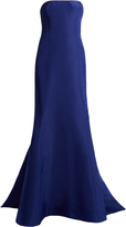 Oscar de la Renta Strapless silk-faille gown