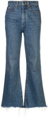 KHAITE Gabbie cropped jeans