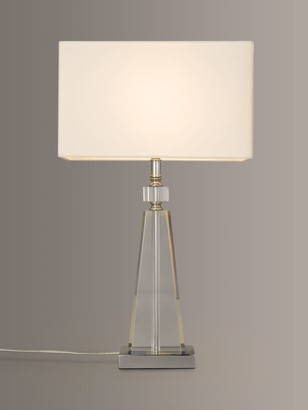 John Lewis & Partners Trisha Triangle Glass Table Lamp, Clear