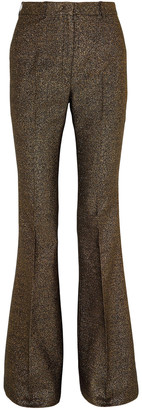 Michael Kors Collection Metallic Wool-blend Flared Pants