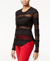 Rachel Roy Striped Lace Top, Only at Macy's