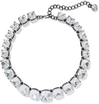 Kenneth Jay Lane Gunmetal-tone Crystal Necklace