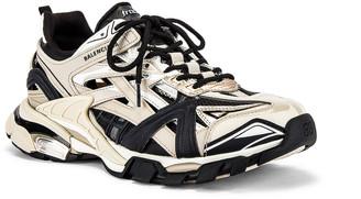 Balenciaga Track 2 Open Sneaker in Beige & Black | FWRD