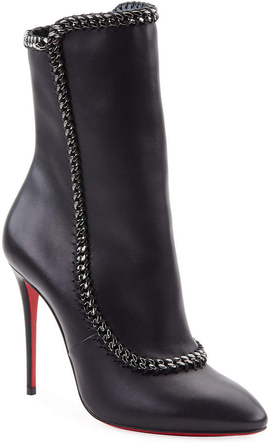8b678704656 Clemence Red Sole Booties