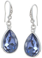Carolee Silvertone and Royal Blue Teardrop Earrings
