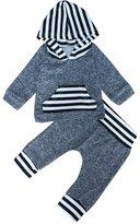 XUNYU Newborn Baby Boy Girl Hoodie T-shirt Top Legging Pants Outfits Clothing Set 0-3T