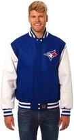 JH Design Toronto Blue Jays Wool & Leather Varsity Jacket