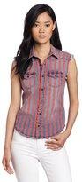 Joe's Jeans Women's Denim Sleeveless Western Shirt