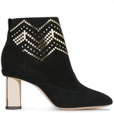 Nicholas Kirkwood 85mm 'Prism' ankle boots - women - Leather/Suede/Kid Leather/metal - 35