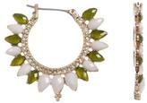 Jenny Packham Stone & Crystal Hoop Earrings