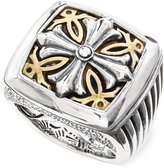 Effy Men's Cross Ring in Brass and Sterling Silver