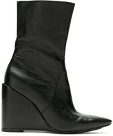 Reinaldo Lourenço pointed toe wedge boots