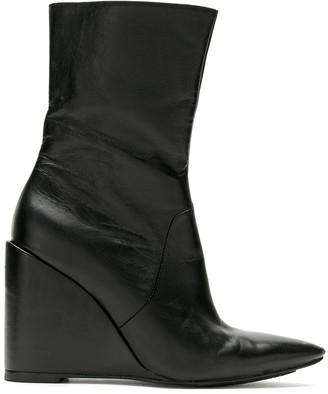 Reinaldo Lourenço Pointed Toe Wedge Boots