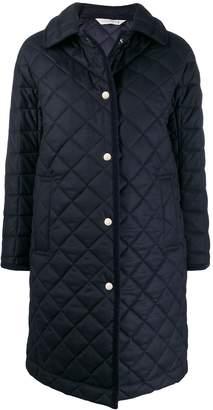 MACKINTOSH RHYNIE Navy Quilted Wool Coat | LQ-1004