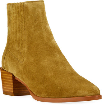 Rag & Bone Rover Pleated Suede Ankle Booties